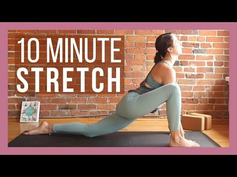 Flexible woman stretching stock image