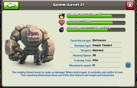 Golem: Guide, Tips and Tricks   Clash of Clans Land