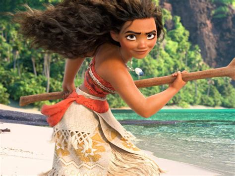 "The full scene of Moana singing ""How Far I'll Go"" is"