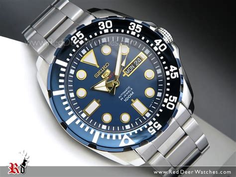 BUY Seiko Automatic Blue Face 100M Sport Watch SRP605K1