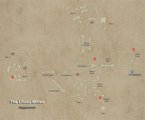Final Fantasy XII Map of the Lhusu Mines - Jegged