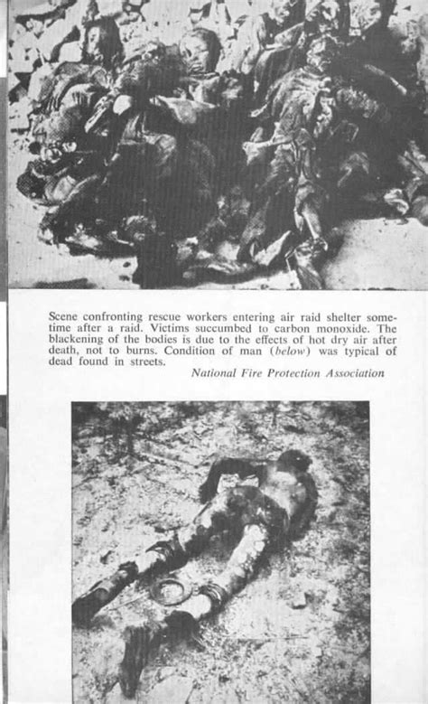 Clarion photo: Hamburg 1943, Victims in a shelter and