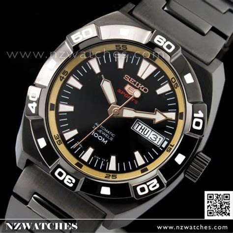 BUY Seiko 5 Automatic Gold Black Mens Sports Watch