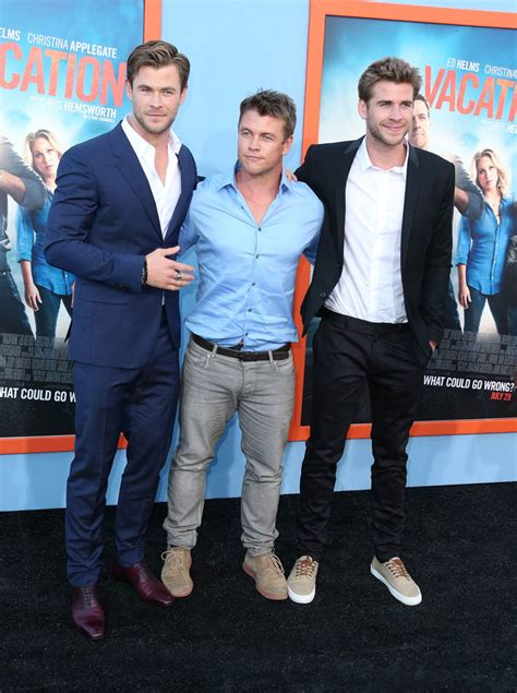 Chris Hemsworth at Hollywood premiere of Vacation with