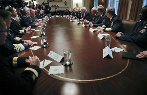 'Calm Before the Storm' — Donald Trump Meets with Military
